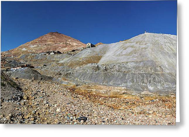 View Of Silver Mine, Inca Trail, Bolivia Greeting Card