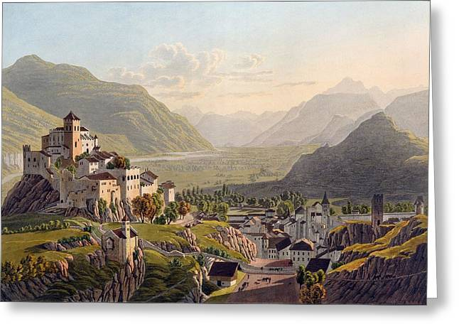 View Of Sion, Illustration From Voyage Greeting Card
