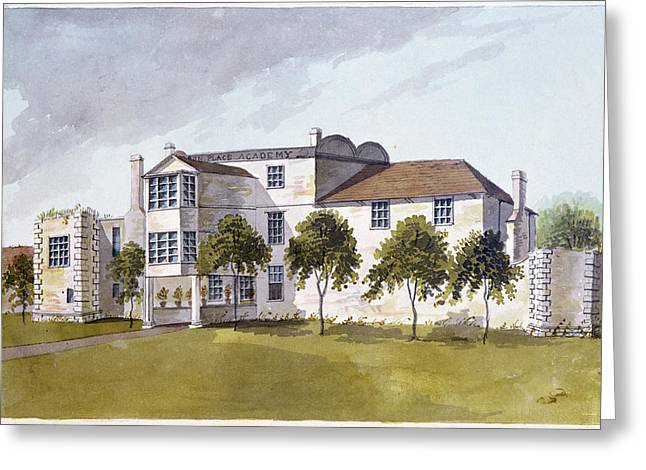 View Of Sir Noel De Carons House, 1809 Wc On Paper Greeting Card by English School