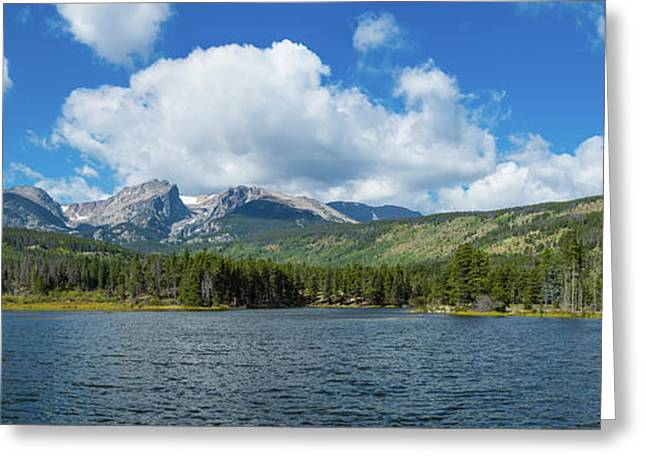 View Of Sprague Lake, Rocky Mountain Greeting Card