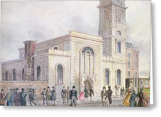View Of St. Bartholomews Church Wc On Paper Greeting Card