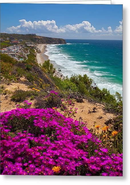 View Of Strand Beach And Dana Point Headland Greeting Card