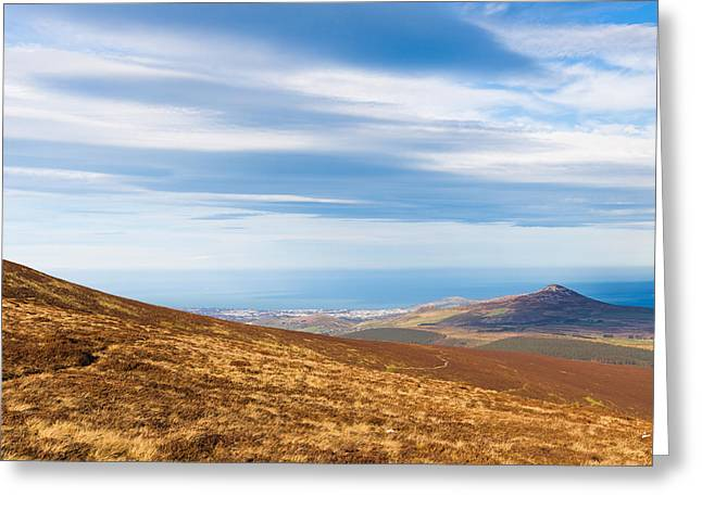 View Of Sugar Loaf From Djouce Mountain Greeting Card by Semmick Photo