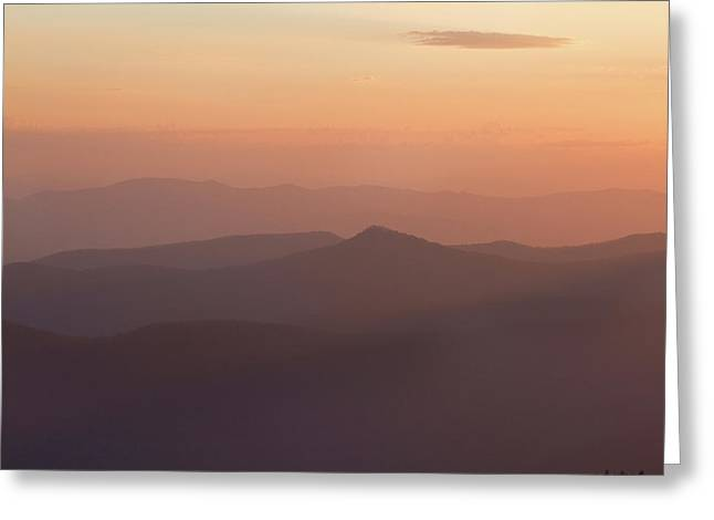 View Of Sunset At Clingmans Dome, Great Greeting Card by Panoramic Images