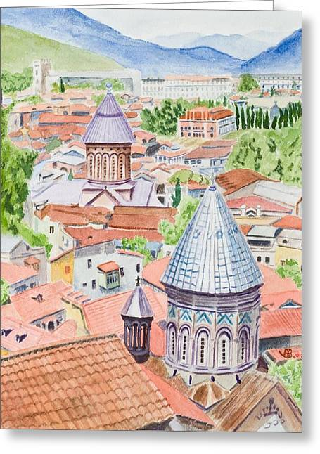 View Of Tbilisi-republic Of Georgia Greeting Card