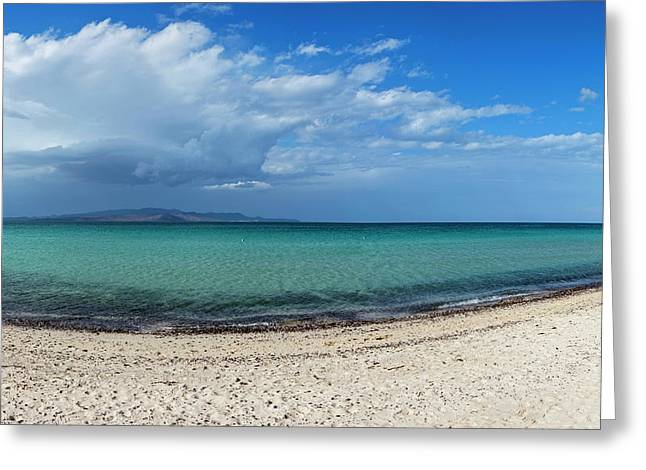 View Of Tecolote Beach In La Paz, Baja Greeting Card by Panoramic Images