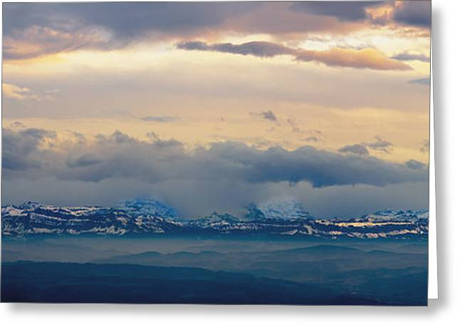 View Of The Alpsjura Switzerland Greeting Card by Yves Marcoux