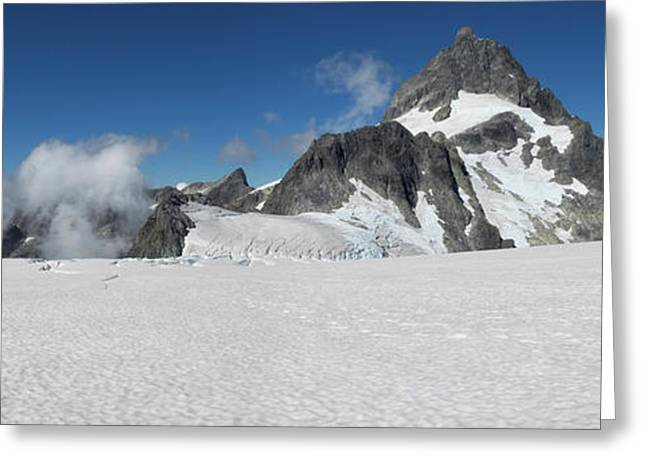 View Of The Bonner Glacier, Mount Greeting Card by Panoramic Images