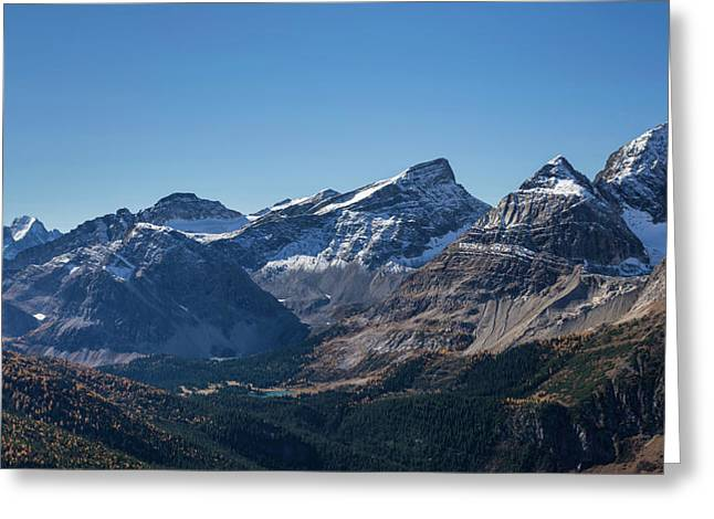 View Of The Burstall Pass, Mt. Black Greeting Card by Panoramic Images