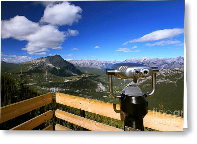 View Of The Canadian Rockies Greeting Card