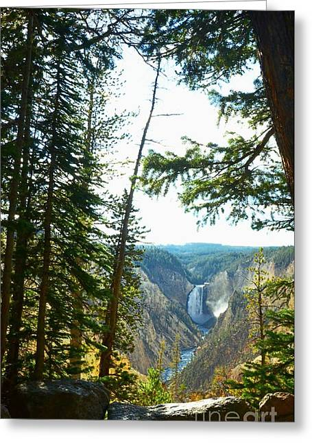 View Of The Canyon Greeting Card
