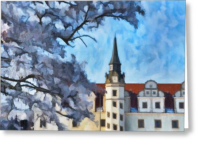 View Of The Castle Greeting Card by Gynt