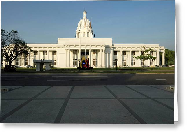 View Of The City Hall, Colombo, Central Greeting Card by Panoramic Images