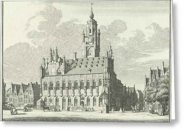 View Of The City Hall Of Middelburg The Netherlands Greeting Card by Quint Lox