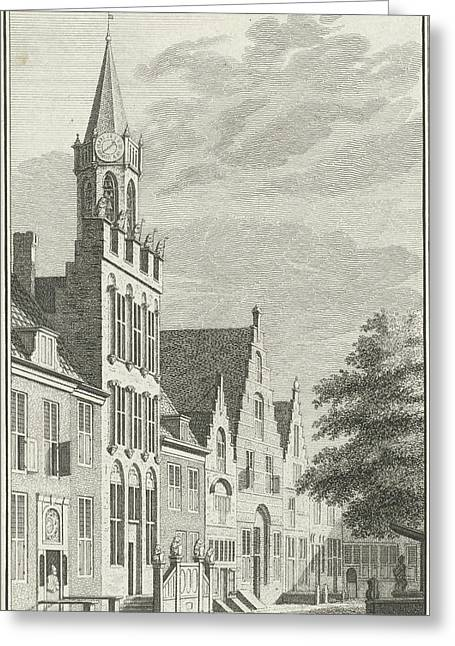 View Of The City Hall Of Tholen The Netherlands Greeting Card by Quint Lox