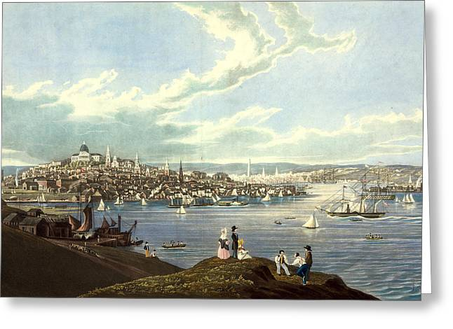 View Of The City Of Boston From Dorchester Heights Greeting Card