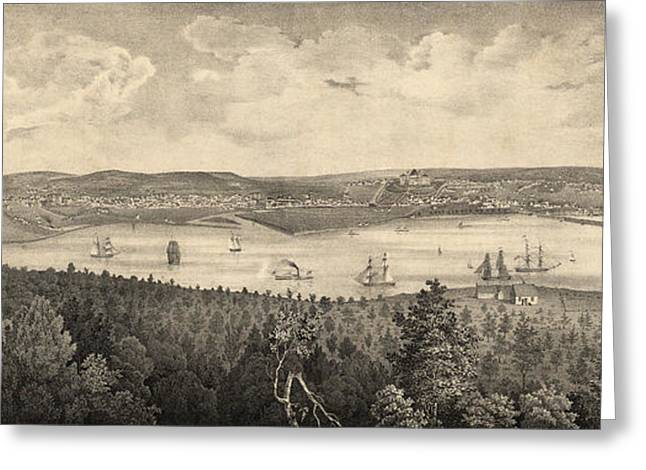 View Of The City Of Washington, The Metropolis Greeting Card by Litz Collection