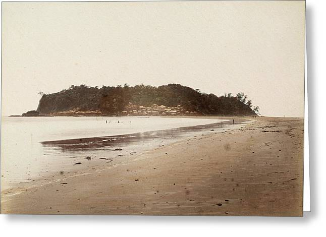 View Of The Coast Of The Island Of Enoshima Greeting Card by Artokoloro