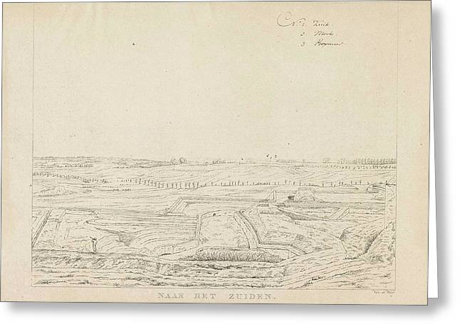 View Of The Countryside South Of Nijmegen Greeting Card by Derk Anthony Van De Wart