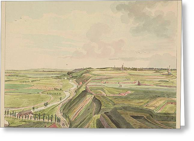 View Of The Countryside Southeast Of Nijmegen Greeting Card by Derk Anthony Van De Wart
