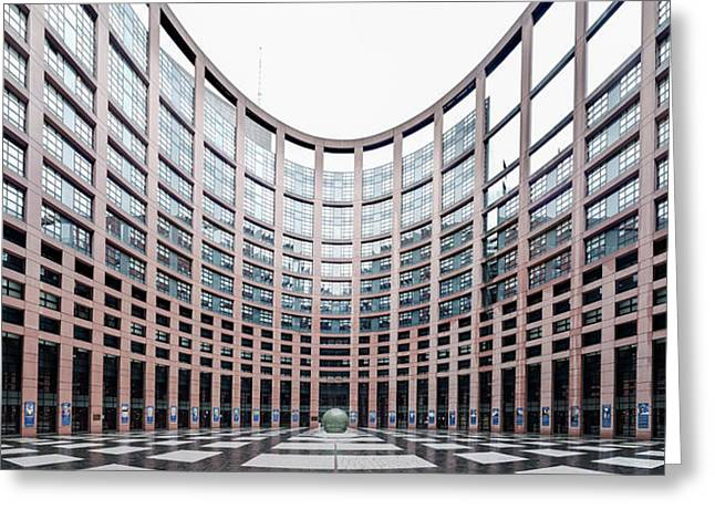 View Of The European Parliament Greeting Card