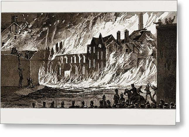 View Of The Fire From Newmarket, London, Uk Greeting Card by Litz Collection