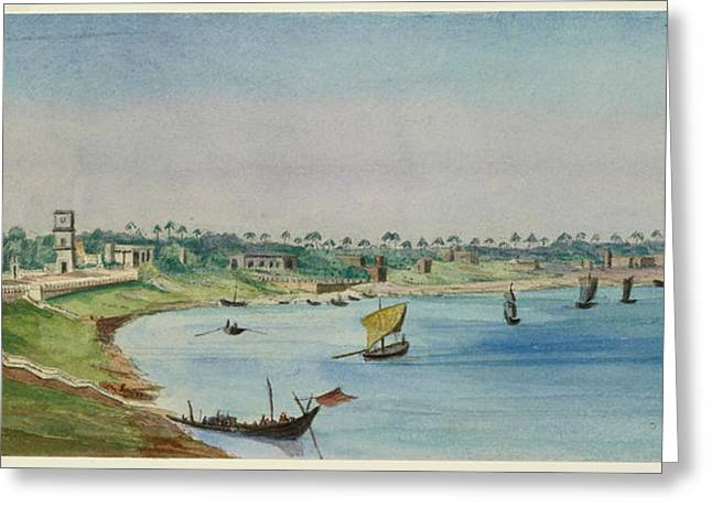 View Of The French Settlement Greeting Card