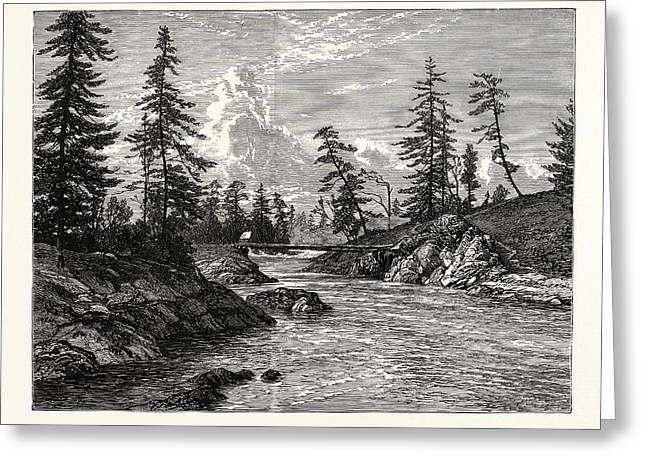 View Of The Gorge, Or Narrowest Point Of The Western Greeting Card by English School