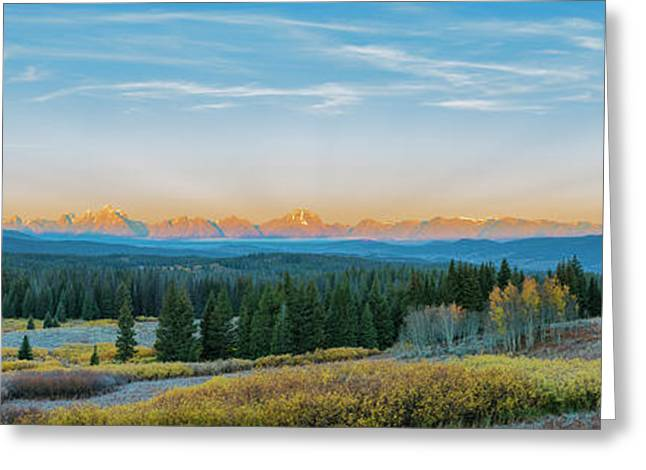 View Of The Grand Teton Mountains Greeting Card