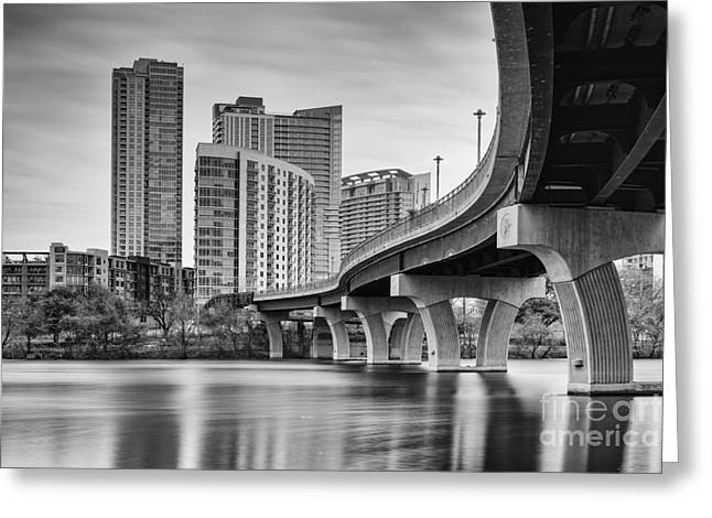View Of The James D. Pfluger Pedestrian Bridge Over Lady Bird Lake - Austin Texas Hill Country Greeting Card by Silvio Ligutti