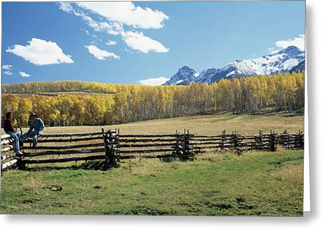 View Of The Last Dollar Ranch, Mount Greeting Card by Panoramic Images
