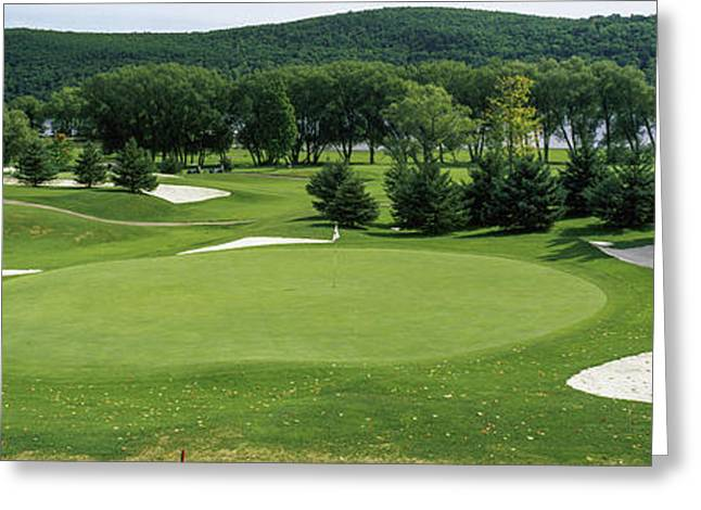 View Of The Leatherstocking Golf Greeting Card