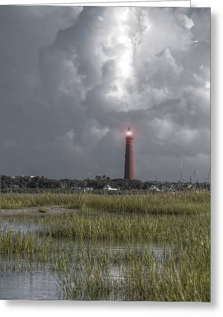 View Of The Lighthouse  Greeting Card