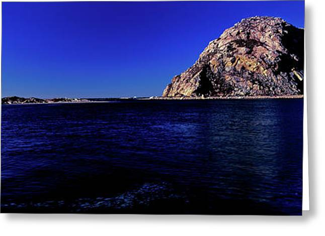 View Of The Morro Rock, Morro Bay, San Greeting Card