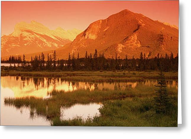 View Of The Mt Rundle, Banff National Greeting Card