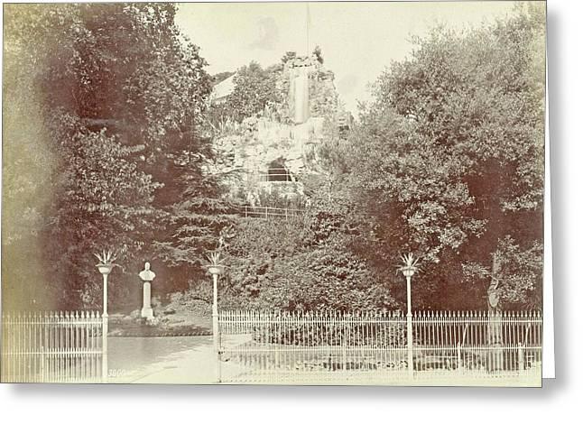 View Of The Park Villetta Di Negro In Genoa Greeting Card