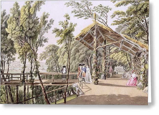View Of The Reisenberg Gardens Greeting Card by Laurenz Janscha