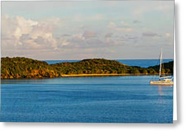View Of The Rendezvous Bay At Late Greeting Card