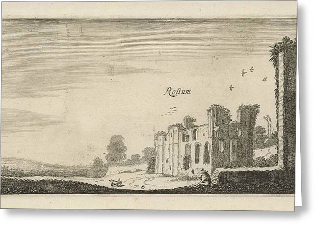View Of The Ruined Castle Rossum, The Netherlands Greeting Card