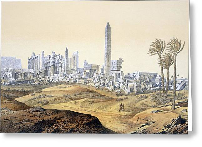 View Of The Ruins Of The Hypostyle Hall Greeting Card by .