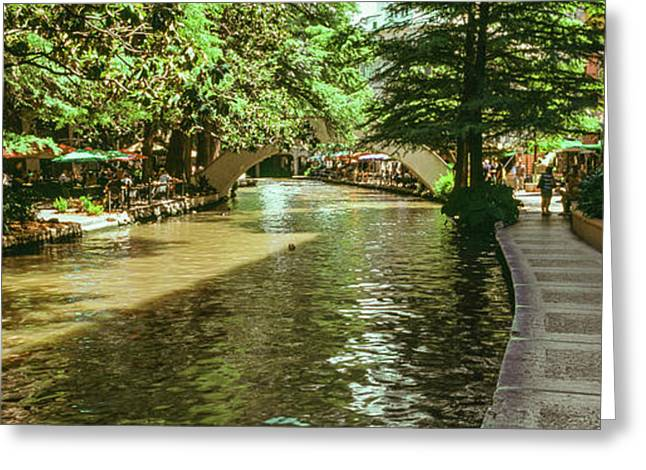 View Of The San Antonio River Walk, San Greeting Card