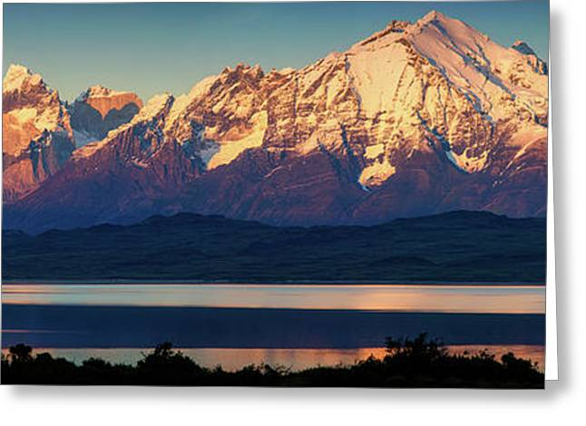 View Of The Sarmiento Lake Greeting Card by Panoramic Images