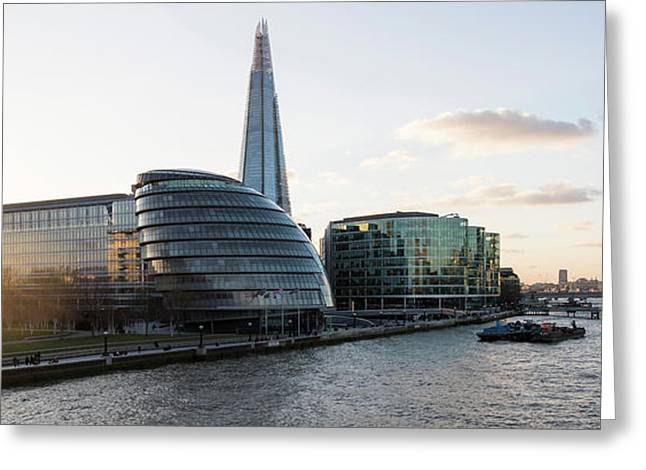 View Of The Shard And City Hall Greeting Card