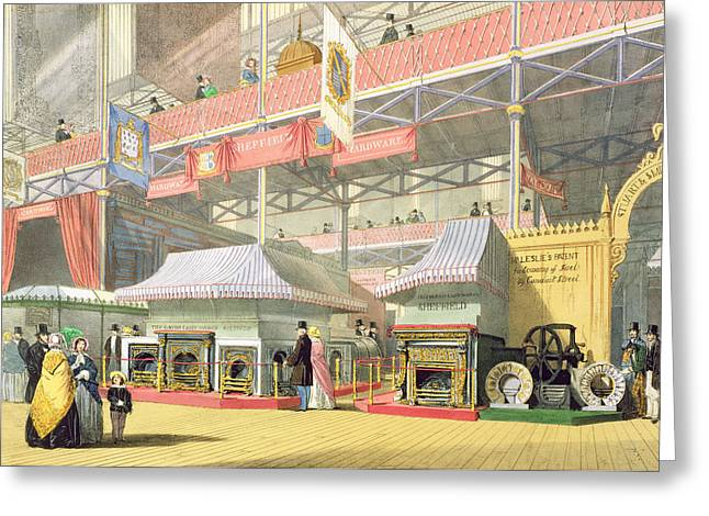 View Of The Sheffield Hardware Stand Greeting Card by English School