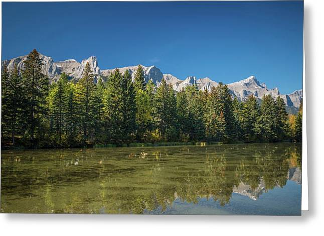 View Of The Spring Creek Pond, Mount Greeting Card