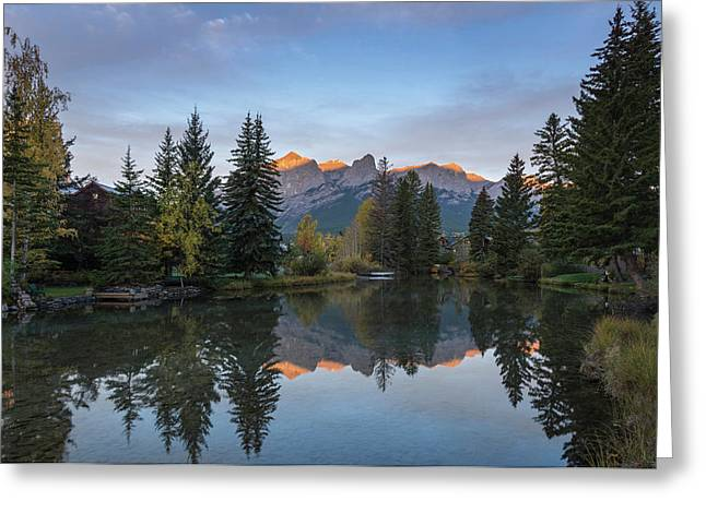 View Of The Spring Creek Pond Greeting Card by Panoramic Images