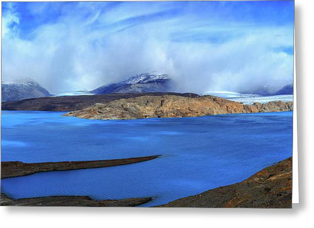 View Of The Upsala Glacier And Lago Greeting Card