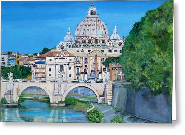 View Of The Vatican City In Rome Greeting Card
