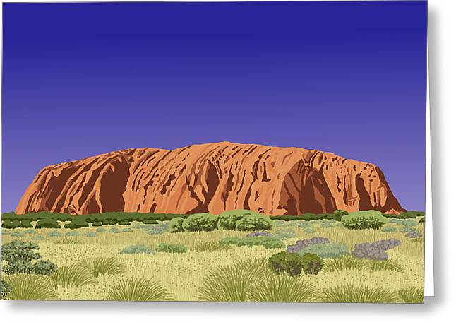 View Of Uluru / Ayers Rock Greeting Card