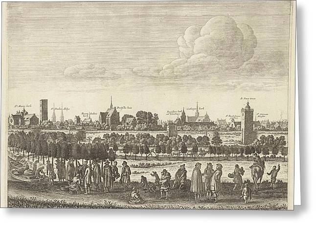 View Of Utrecht From The West Plate IIi Greeting Card